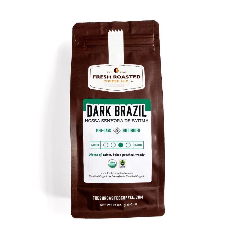 Organic Fresh Roasted Dark Brazilian Nossa Senhora de Fatima Coffee